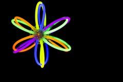 Запачкайте шарик в движении сделанном с светами ручек зарева дневными Стоковые Изображения