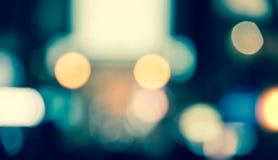 Запачкайте defocused неоновое свето на предпосылке образа жизни ночи Стоковые Фотографии RF