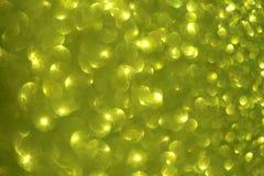 Запачканная абстрактная зелен-желтая предпосылка с влиянием яркого блеска и зарева стоковая фотография rf