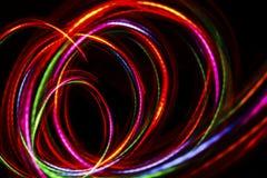 Запачканная абстрактная линия от света СИД Стоковое фото RF