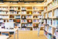 Запачканная библиотека предпосылки Стоковое Изображение