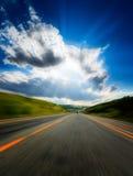 запачканная дорога движения стоковые фото