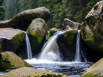 Запачканная деталь потока реки Стоковые Фотографии RF