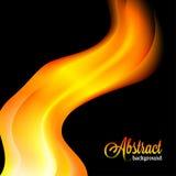 Запачканная конспектом оранжевая предпосылка пламени Стоковое Фото