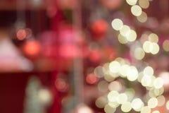 Запачканная конспектом предпосылка праздника Bokeh Стоковые Фото