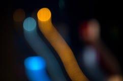 Запачканная конспектом moving предпосылка темноты светов Стоковая Фотография RF