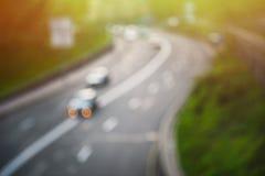 Запачканная дорога с ходом автомобиля Стоковое Изображение