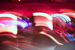 запачканная пляжем цветастая ноча miami светов Стоковое Изображение