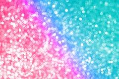 Запачканная предпосылка градиента неонового пинка bokeh пурпурная голубая лазурная, предпосылка праздников Нового Года рождества стоковое изображение rf