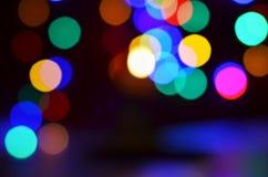 Запачканная предпосылка bokeh света цвета города стоковые изображения