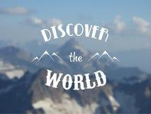 Запачканная предпосылка ландшафта горы Стоковое Изображение RF