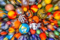 Запачканная предпосылка мраморов в много цветов Стоковые Изображения