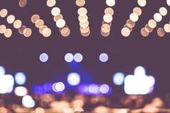 Запачканная предпосылка: Освещение Bokeh совместно с аудиторией, Mu Стоковое Изображение RF