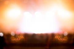 Запачканная предпосылка: Освещение Bokeh совместно с аудиторией, Mu Стоковые Изображения