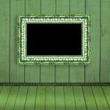 запачканная рамка вися старую стену фото Стоковые Изображения