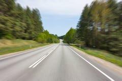 запачканная скорость дороги движения Стоковые Изображения RF