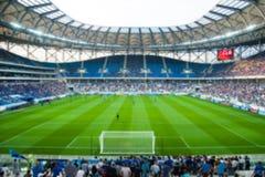 Запачканная толпа зрителей на стадионе стоковые фотографии rf