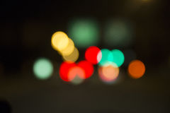 запачканное движение светов Стоковое Изображение