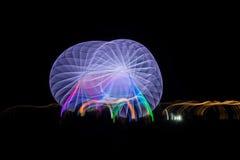 Запачканное гигантское колесо, ferris на ноче Стоковое Изображение RF