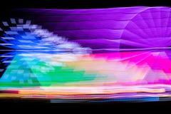 Запачканное гигантское колесо, ferris на ноче Стоковое Изображение