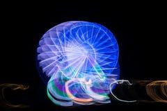 Запачканное гигантское колесо, ferris на ноче Стоковое фото RF