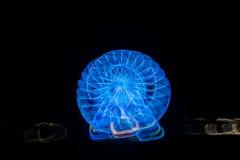 Запачканное гигантское колесо, ferris на ноче Стоковая Фотография RF