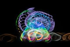 Запачканное гигантское колесо, ferris на ноче Стоковое Фото