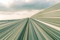 Запачканное движение абстрактного следа поезда moving стоковое изображение rf