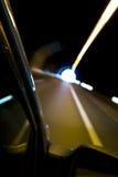 запачканное движение автомобиля Стоковые Изображения