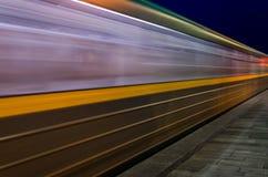 Запачканное движение поезда Стоковое Изображение