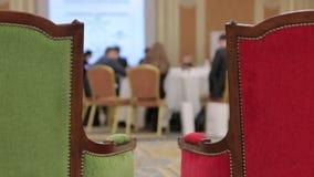 Запачканное конференция сток-видео