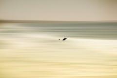 Запачканное море на береге океана Стоковая Фотография