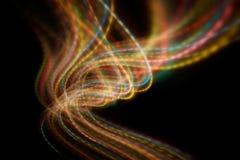 запачканное светлое движение Стоковые Изображения