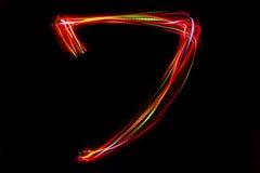 Запачканное сочинительство ` ` 7 номера от света Стоковые Фото