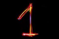 Запачканное сочинительство ` ` 1 номера от света Стоковые Изображения RF