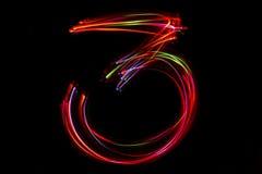 Запачканное сочинительство ` ` 3 номера от света Стоковые Фотографии RF