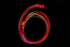 Запачканное сочинительство ` ` 6 номера от света Стоковые Фотографии RF