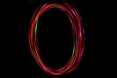 Запачканное сочинительство ` ` o слова от света Стоковая Фотография RF