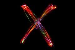 Запачканное сочинительство ` ` x слова от света Стоковое Изображение RF