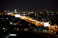 Запачканные абстрактные света и bokeh предпосылки Стоковое Изображение