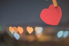Запачканные обои и предпосылки текстуры bokeh сердца Стоковые Фотографии RF