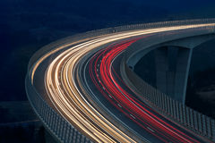 Запачканные света кораблей Стоковое Фото