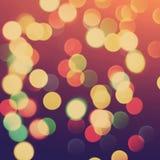 запачканные света рождества Стоковое фото RF