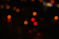 Запачканные света с предпосылкой влияния bokeh Зачатие нежности и нерезкости Стоковые Фото