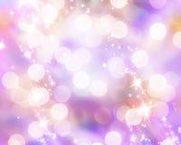 Запачканные света xmas Стоковая Фотография
