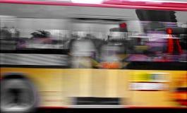 запачканные тропки high speed шины Стоковая Фотография