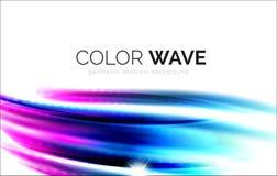 Запачканные элементы дизайна волны вектора Стоковые Фотографии RF