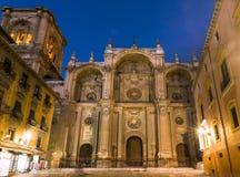 запачканные люди Испания вочеловечения фасада выдержки собора длинние главные Главный фасад, Испания Стоковые Изображения RF