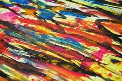 Запачканные яркие цвета, контрасты, предпосылка waxy краски творческая стоковое фото