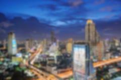 Запачканный абстрактный город ночи Стоковое Фото